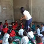On the Go Tours, UK in a school in Abhaneri