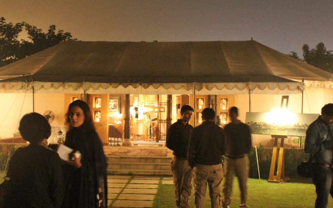 The exterior of the 'Maashra' dining tent